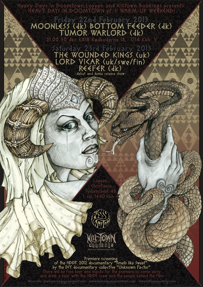 THE WOUNDED KINGS (UK) + LORD VICAR (SF) + REEFER | LOPPEN